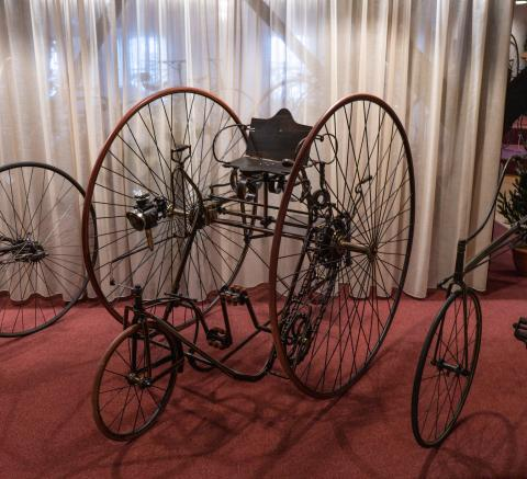 James Starley's Salvo Quadricycle uit 1878